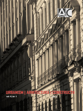 Urbanism. Architecture. Constructions, vol. 4, issue no. 1