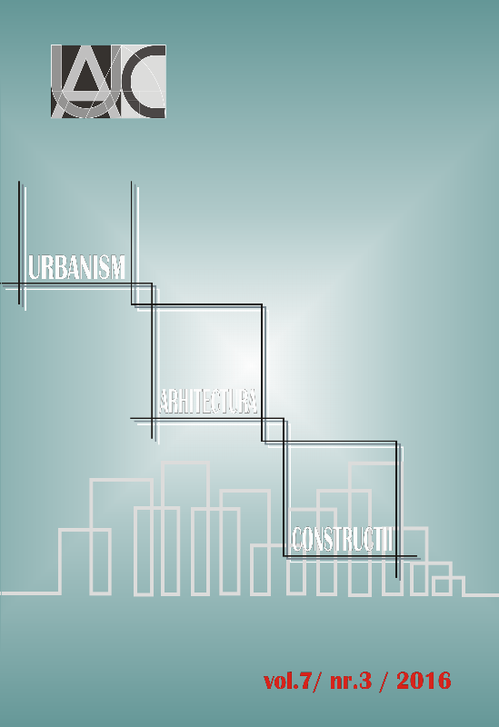 Urbanism. Architecture. Constructions, vol. 7, issue no. 3